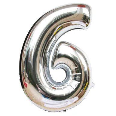 Balão prata N6 - 75 cm - Br festas