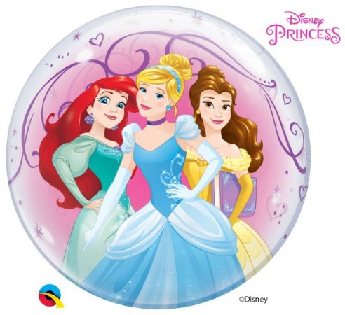 "BUBBLE PRINCESAS DISNEP 22"" QUALATEX"