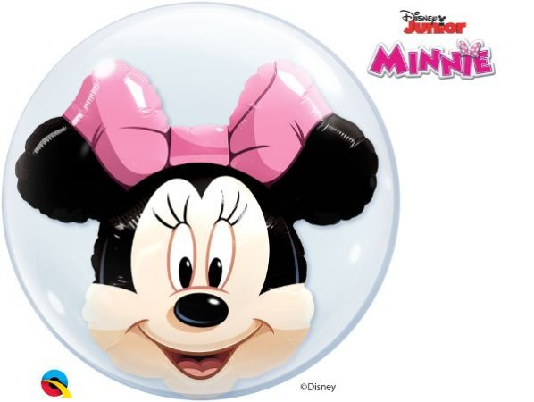 "BUBBLE MINNIE 22"" QUALATEX"