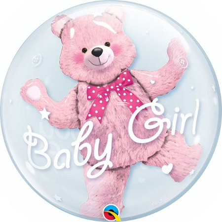 "BUBBLE BABY GIRL 22"" QUALATEX"