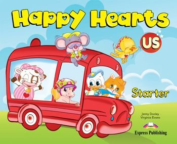 HAPPY HEARTS US STARTER PUPIL'S BOOK (WITH STICKERS & PRESS OUTS)