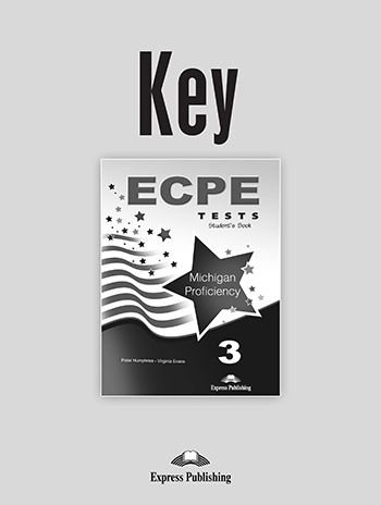 ECPE 3 TESTS FOR THE MICHIGAN PROFICIENCY KEY REVISED(NEW)