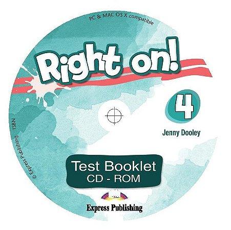 RIGHT ON! 4 TEST BOOKLET CD-ROM (INTERNATIONAL)