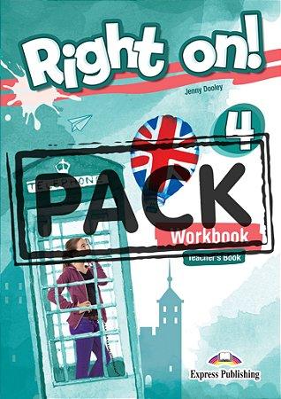 RIGHT ON! 4 WORKBOOK TEACHER'S BOOK (WITH DIGIBOOK APP) (INTERNATIONAL)