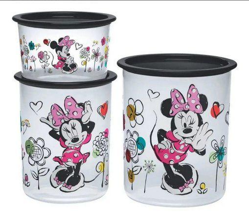 Tupperware Kit Minnie Primavera 3 Peças