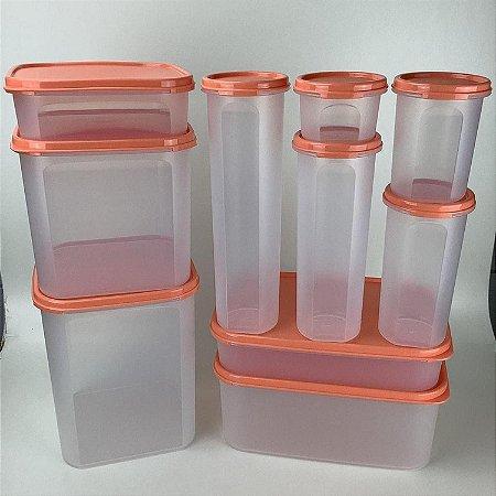 Tupperware Kit Modulares 10 Peças Para Armazenar Alimentos
