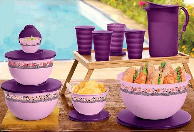 Tupperware Kit Murano Purpura Real 10 Peças