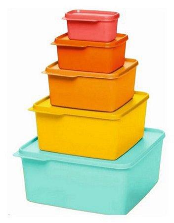 Tupperware Kit Basic Line 5 peças
