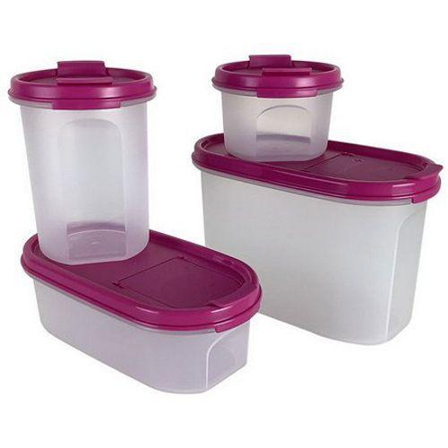 Tupperware Kit Modulares Rosa4 Peças
