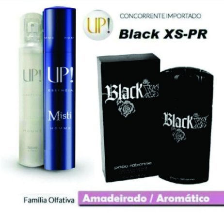 PERFUME UP! MISTI - BLACK XS-PR* - MASCULINO 50ML