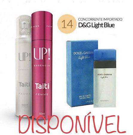 PERFUME UP! 14 – TAITI - D&G LIGHT BLUE* – FEMININO 50 ML
