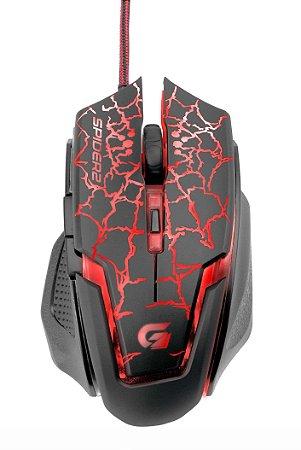Mouse Gamer Fortrek Spider 2 OM-705 USB Preto/Vermelho