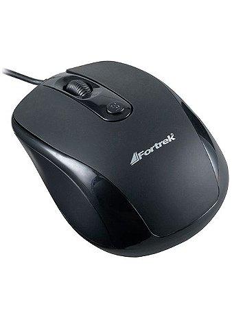 Mouse Óptico Fortrek 1600dpi USB Preto OM-103
