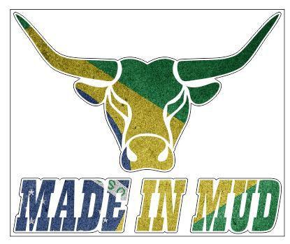 Adesivos Made In Mud Bandeira do Brasil Refletivo (Grande 25x21cm)