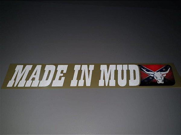 Adesivos Made In Mud Clássico Refletivo (Médio 4,5x29)