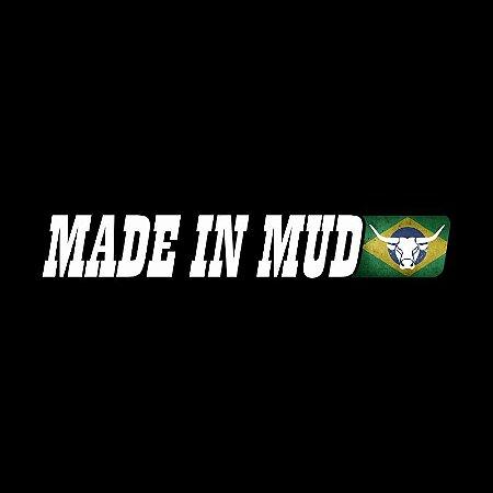 Adesivos Made In Mud Refletivo do Brasil (Médio 4,5x29)