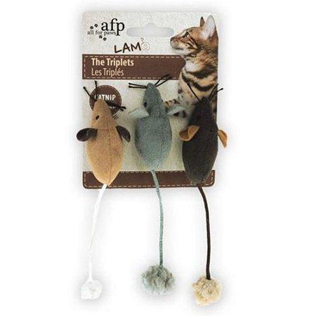 Kit Trio de Ratinhos com Catnip - AFP