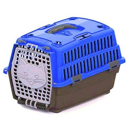 Caixa de Transporte para Gato Travel - Azul