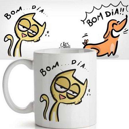 Caneca Bom Dia – Cães e Gatos USQ