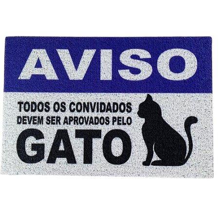 Capacho/Tapete Todos Devem Ser Aprovados Pelo Gato