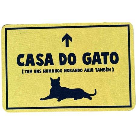 Tapete Capacho Casa Dos Gatos