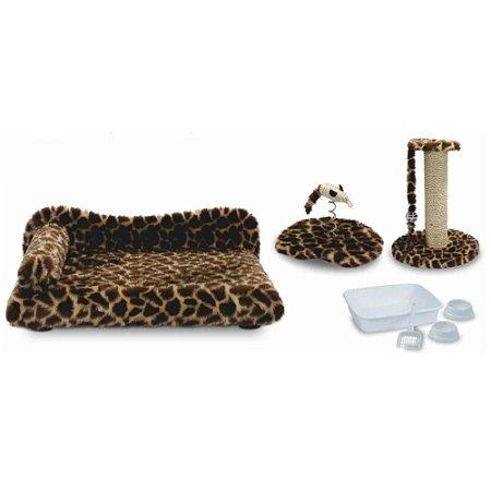 Kit Gato Prime Luxo 7 peças Pelúcia - Girafa