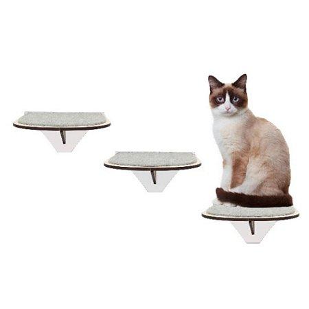 Kit com 3 Degraus de Parede para Gato em MDF
