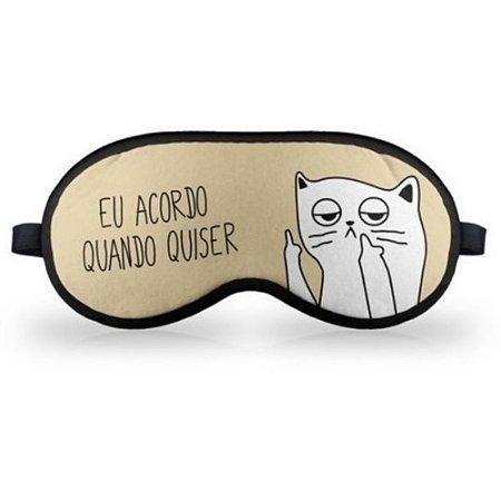 Máscara de Dormir Gatinho Ranzinza