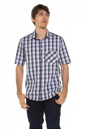 Camisa manga curta Xad - Blue Gem