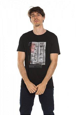 Camiseta Blocos - Preta