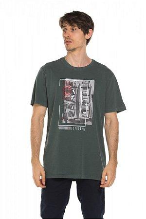 Camiseta Blocos - Dark Fern