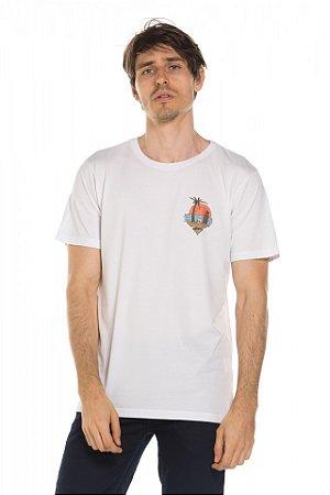 Camiseta Ilha caveira - Branca