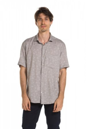 Camisa manga curta Summer Leaves - Sorrell Brown