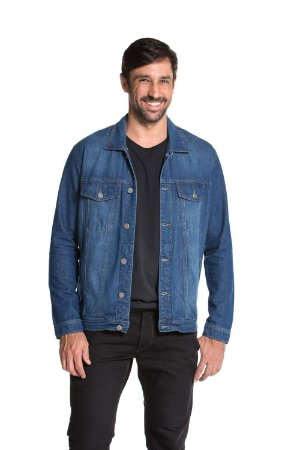 Jaqueta Jeans Premium Clássica True You Brasil Denim Azul