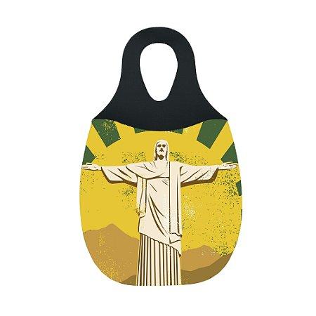 LIXEIRA DE CARRO EM NEOPRENE - Cristo Redentor