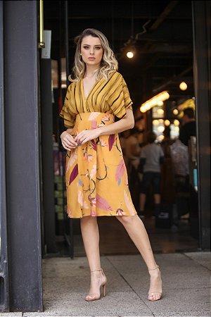 Vestido Midi Coordenado Listra/Floral