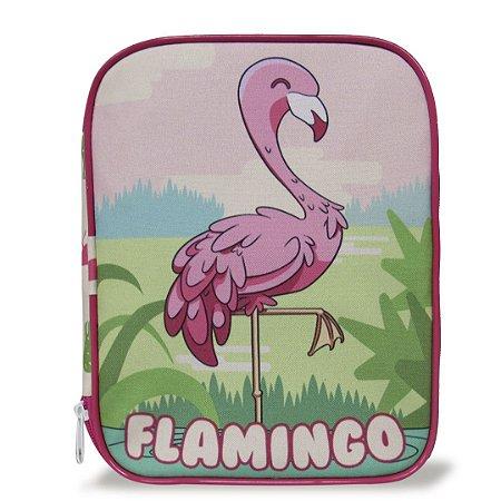 Estojo Escolar Infantil 100 Pens Flamingo
