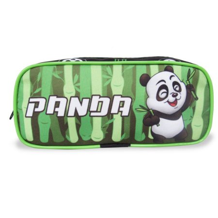 Estojo Infantil Escolar Panda