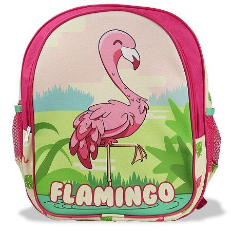Mochila Escolar De Costas Infantil Flamingo Tam M
