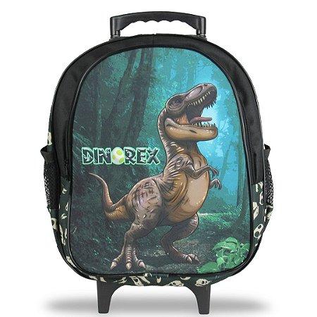 Mochila Escolar Infantil Tam M Rodinhas Dino-Rex