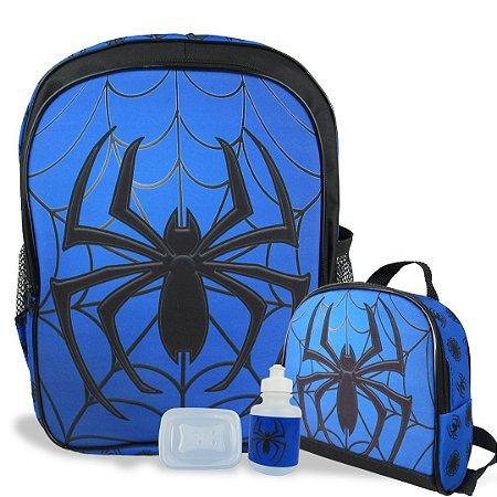 Mochila Escolar de costas e Lancheira Spider