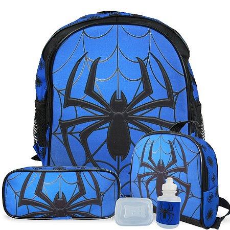 Kit Escolar Mochila Infantil de Costas Tam M Spider
