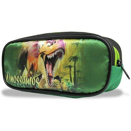 Estojo Infantil Escolar Dinossauro