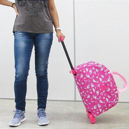 Bolsa De Viagem Feminina De Rodinhas Unicórnio