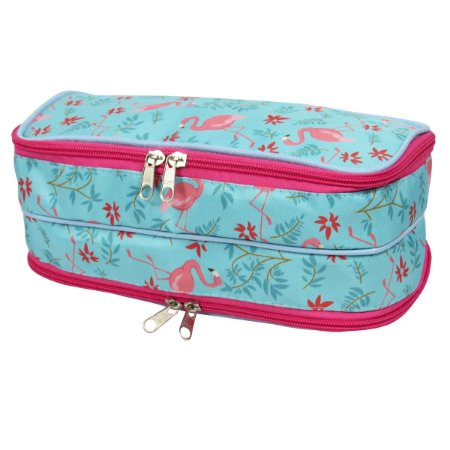 Necessaire 2 Compartimentos Flamingos