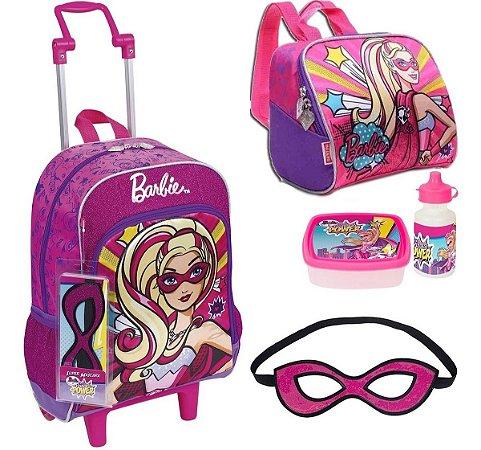 Kit Mochila Barbie Power Super Princesas + Brindes Sestini