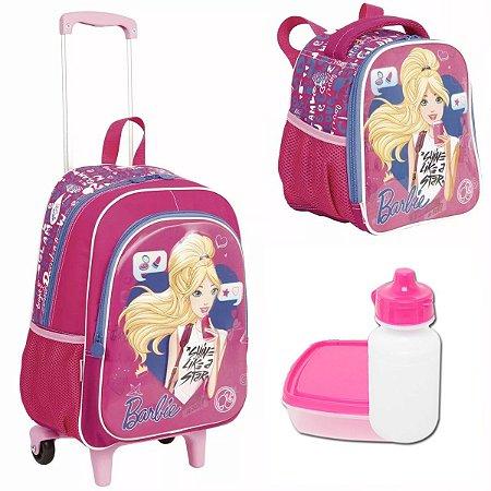 Mochila e lancheira Escolar Infantil Barbie 17 X Sestini