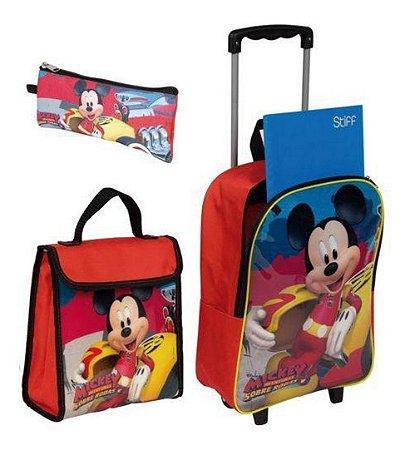 Kit Mochila Escolar Infantil Mickey Mouse Tamanho G Sestini