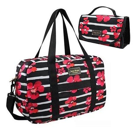 Bolsa Feminina De Viagem + Necessaire Jacki Design
