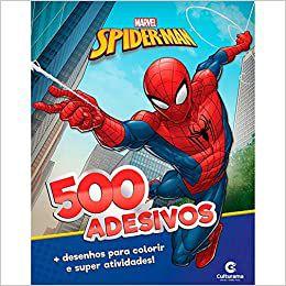 Livro de desenhos e adesivos Homem Aranha